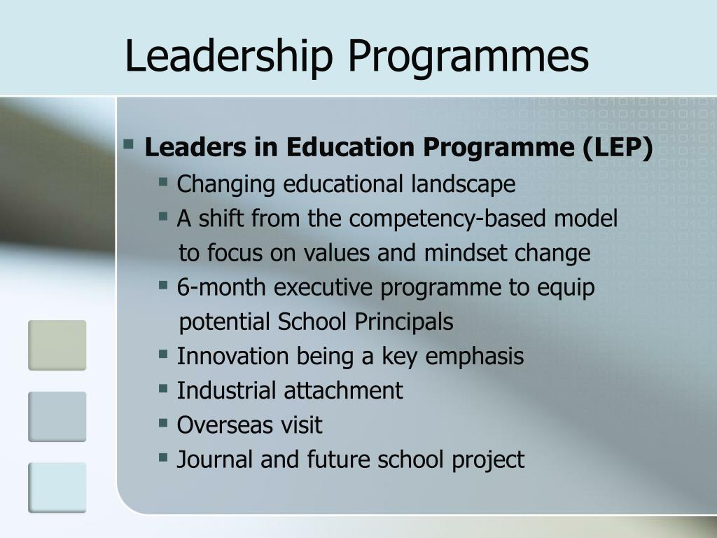 Leadership Programmes