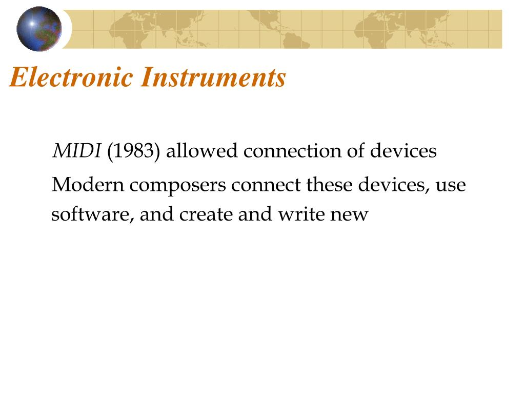 Electronic Instruments