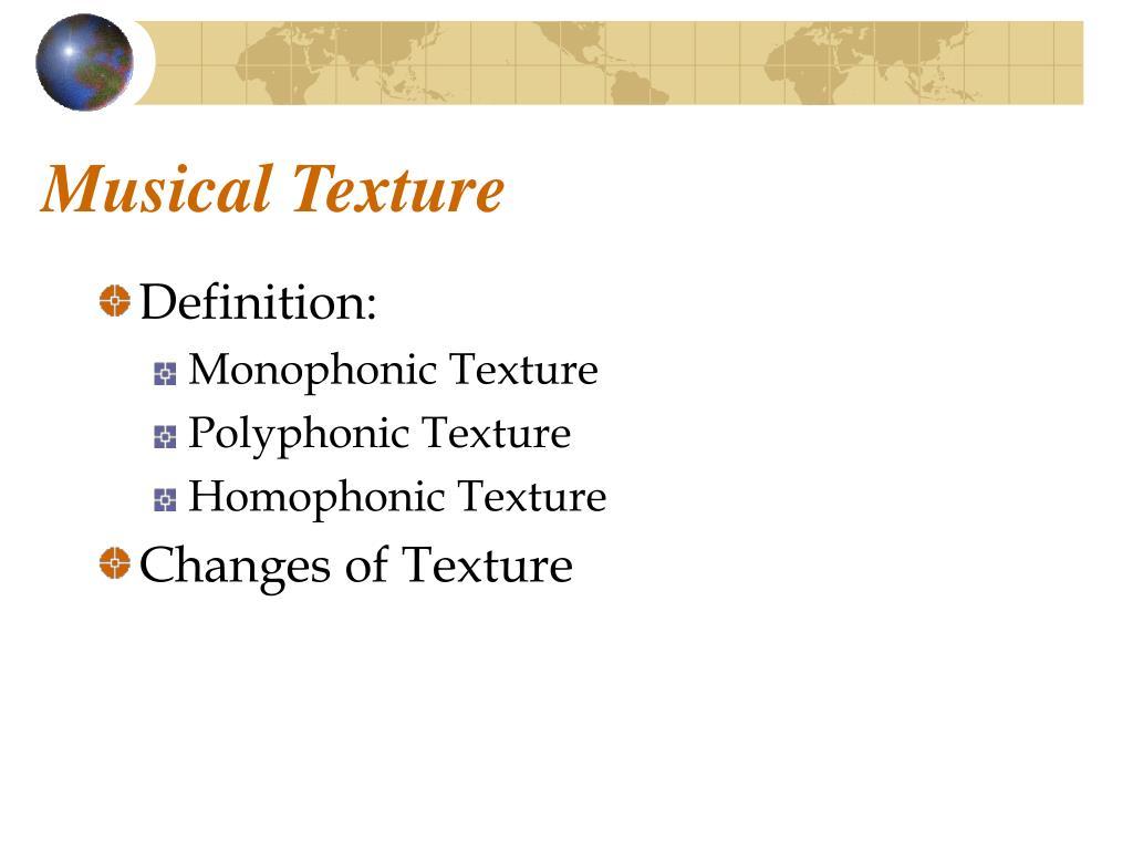 Musical Texture