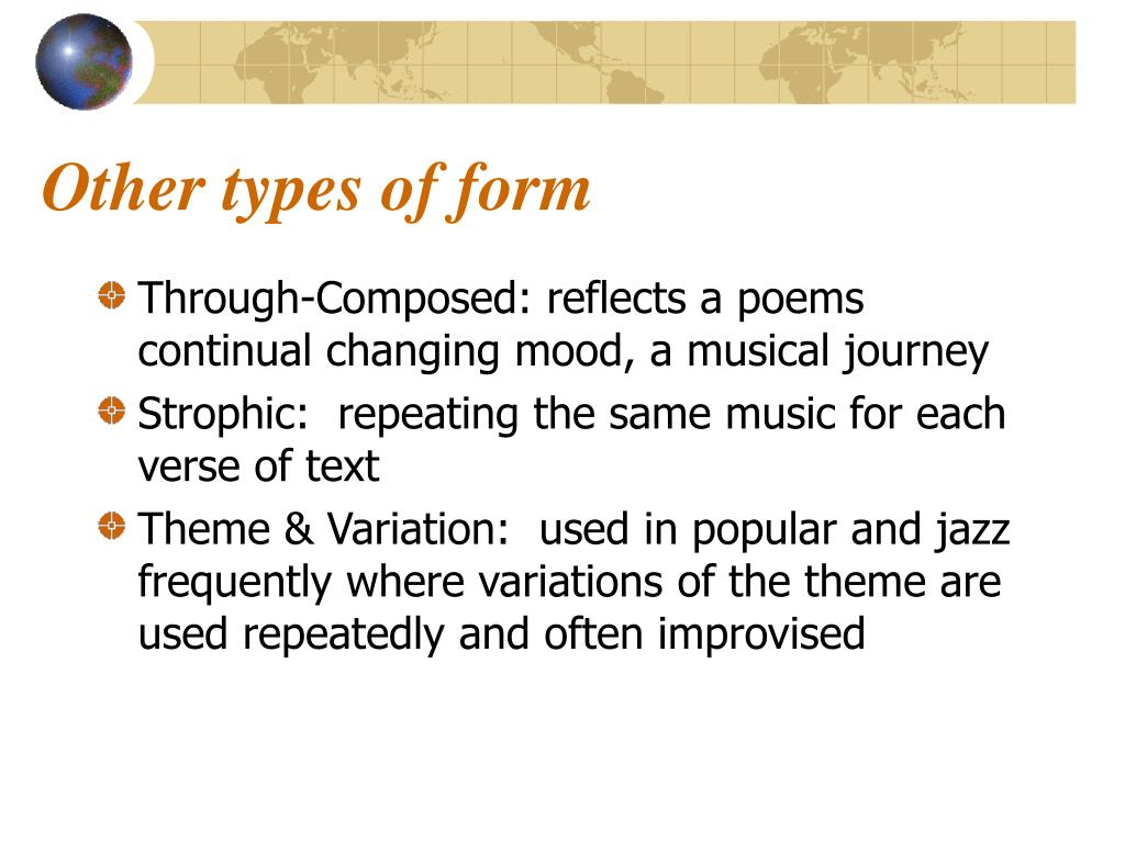 Other types of form