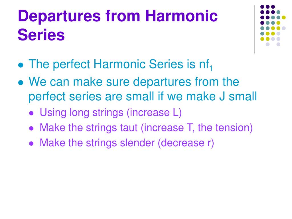 Departures from Harmonic Series