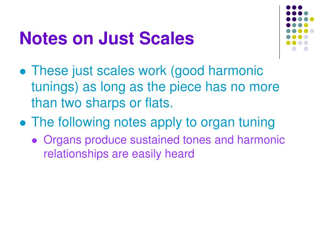 Notes on Just Scales