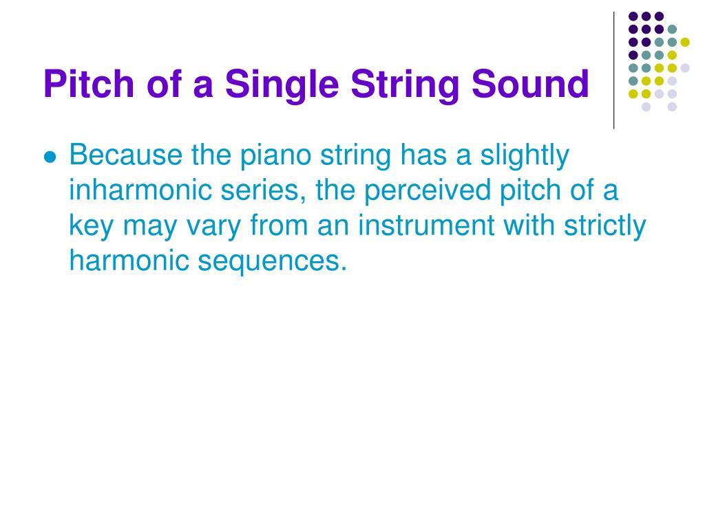 Pitch of a Single String Sound