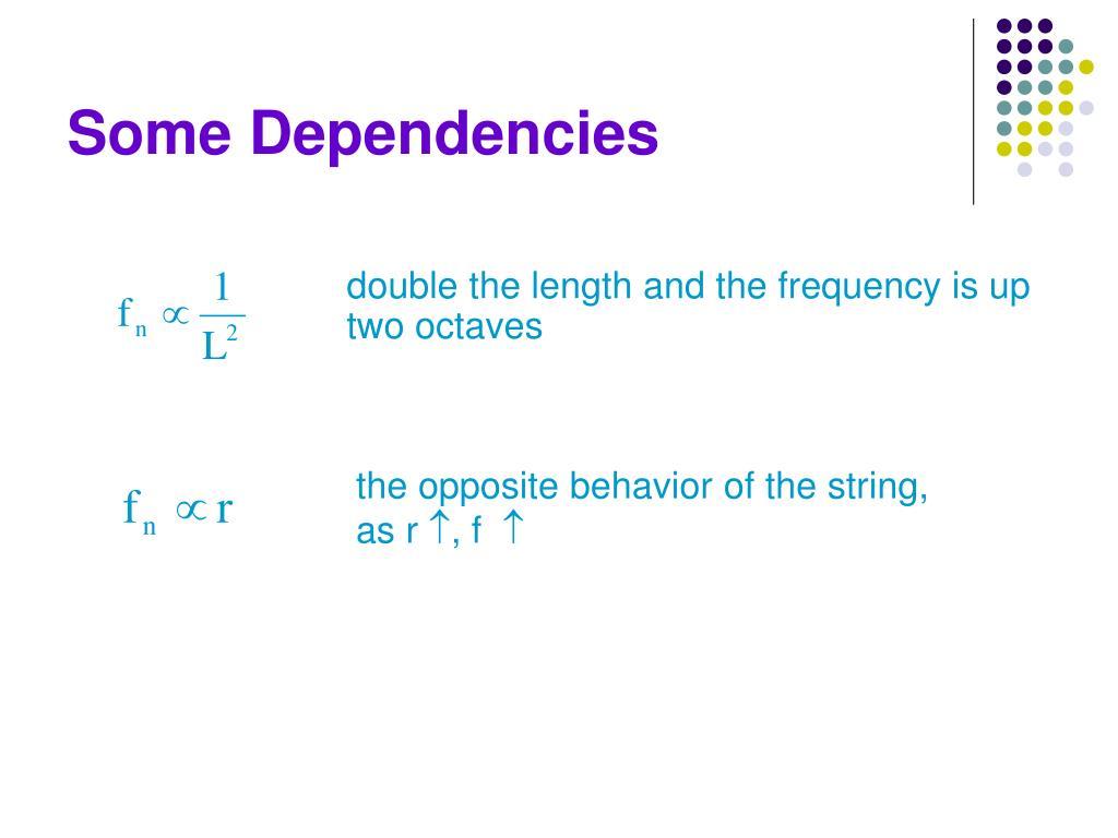 Some Dependencies