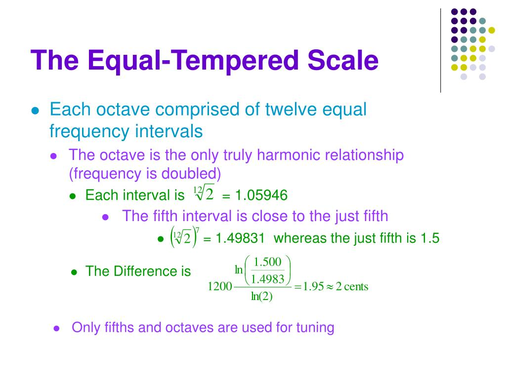 The Equal-Tempered Scale