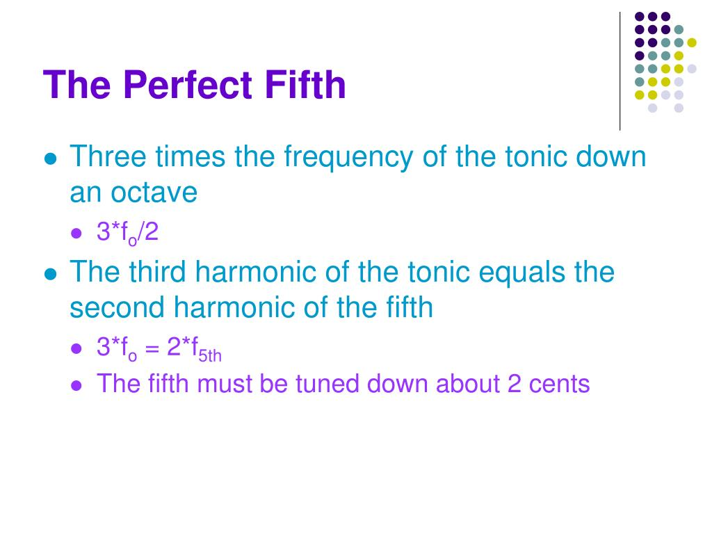 The Perfect Fifth