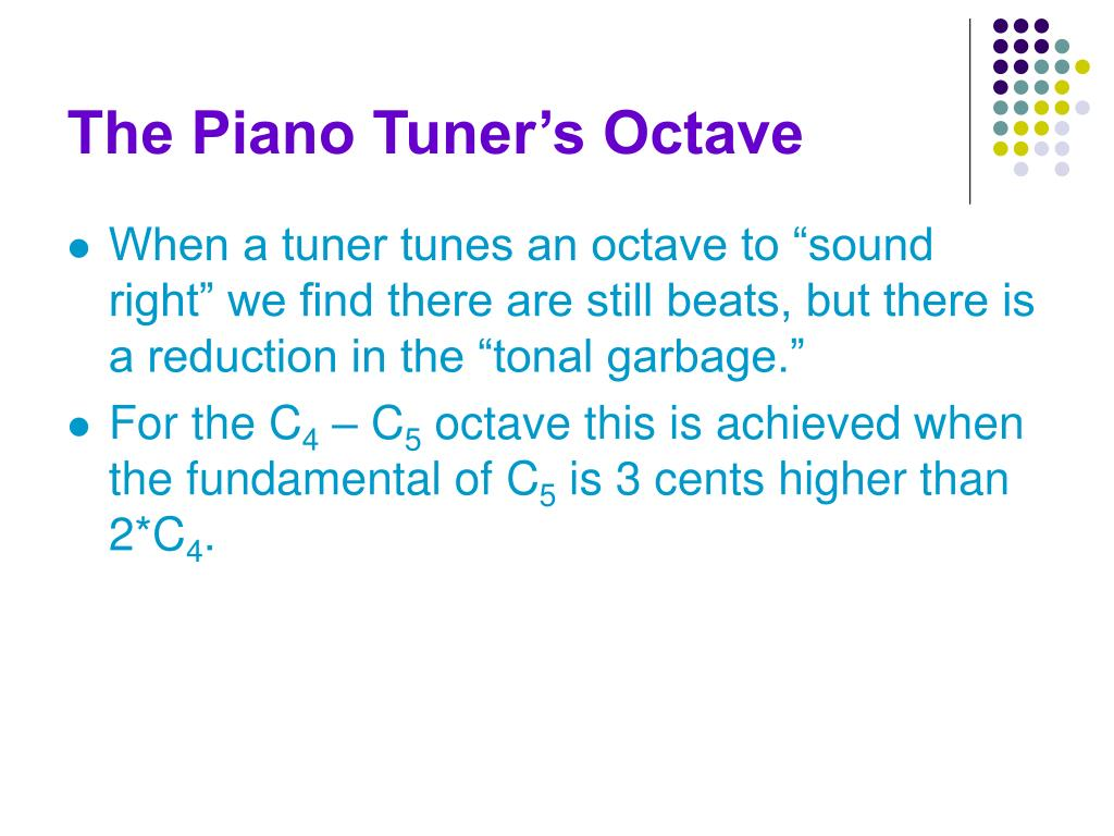 The Piano Tuner's Octave