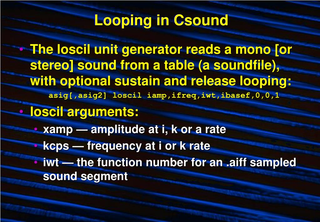 Looping in Csound