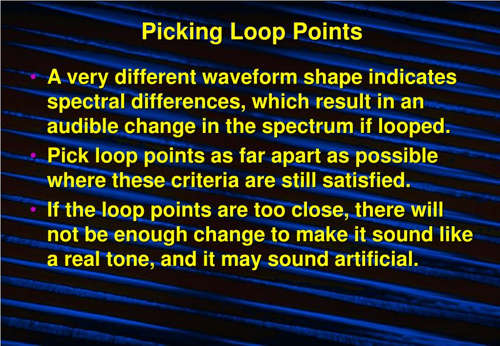 Picking Loop Points