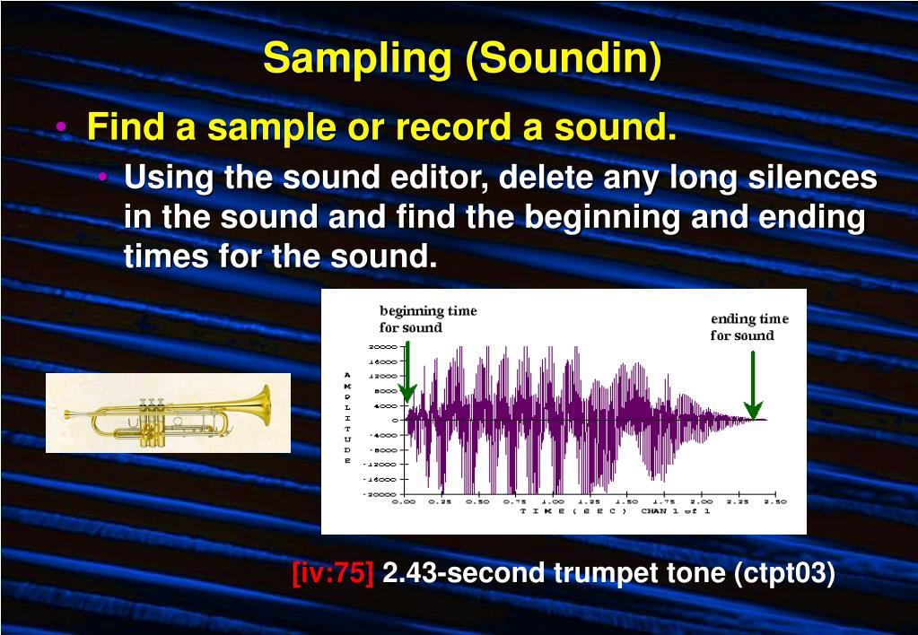Sampling (Soundin)