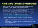 mandatory influenza vaccination