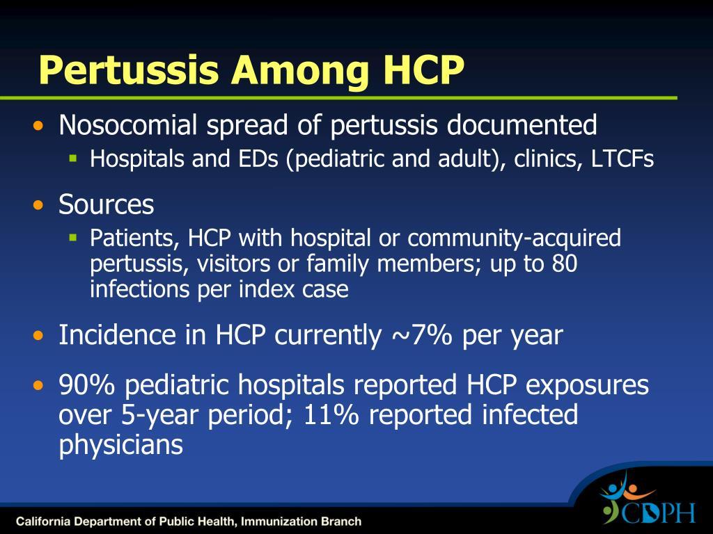 Pertussis Among HCP