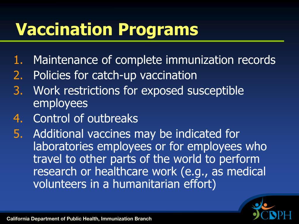 Vaccination Programs