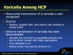 varicella among hcp