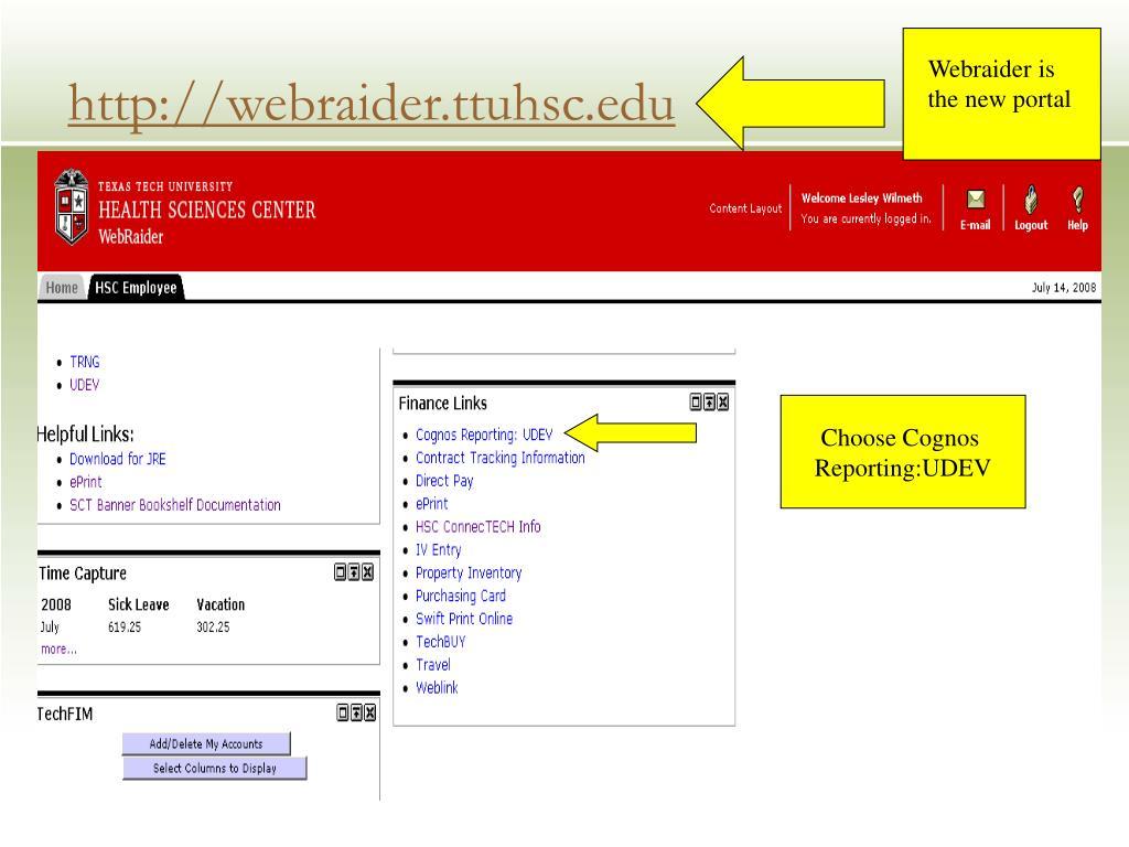 http://webraider.ttuhsc.edu
