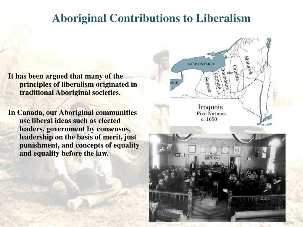 Aboriginal Contributions to Liberalism