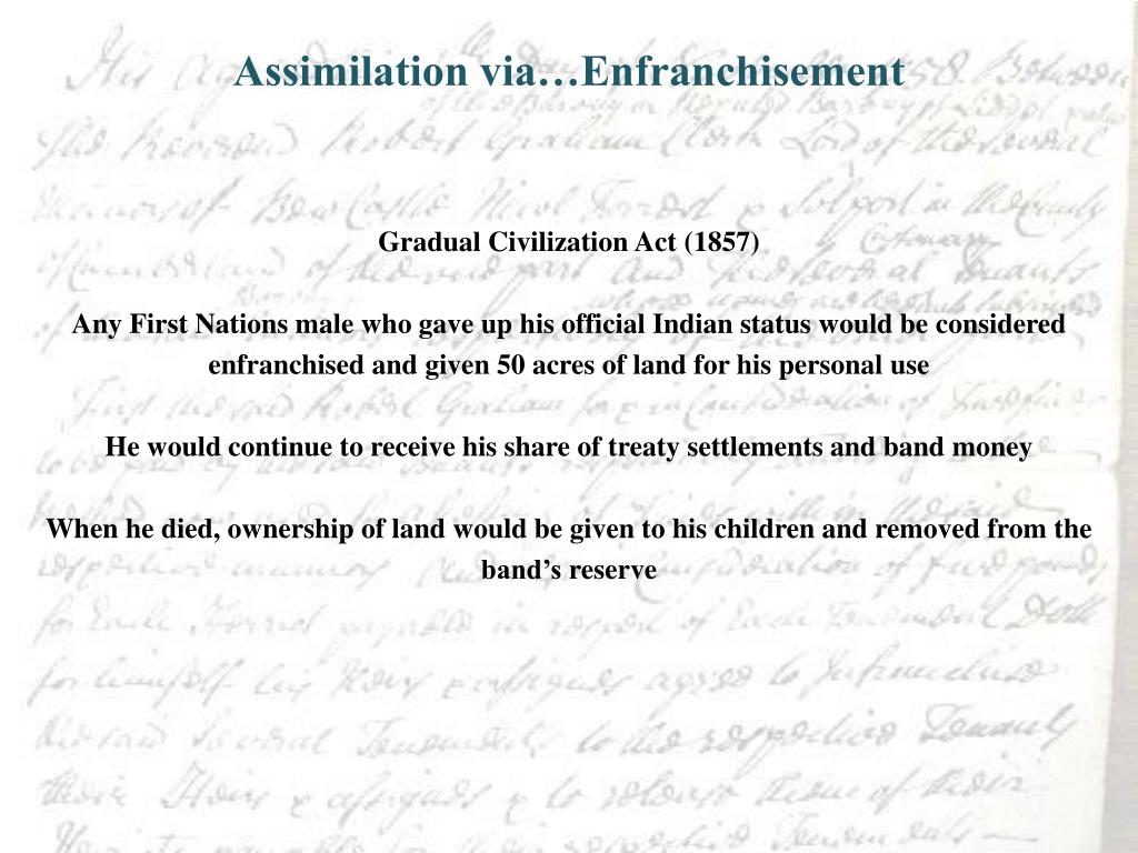 Assimilation via…Enfranchisement