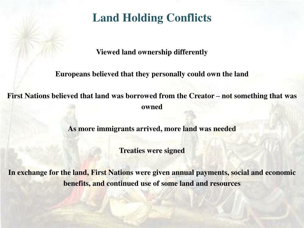 Land Holding Conflicts