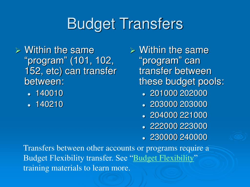 """Within the same """"program"""" (101, 102, 152, etc) can transfer between:"""