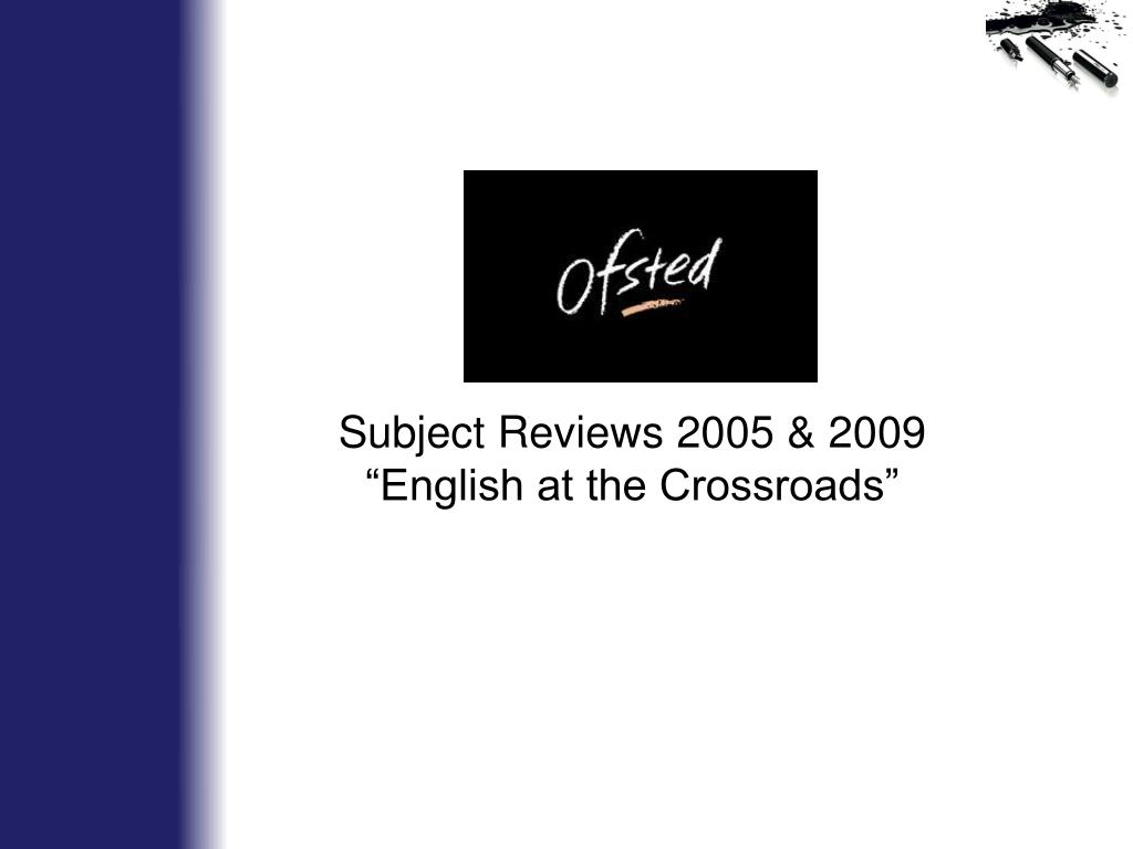 Subject Reviews 2005 & 2009