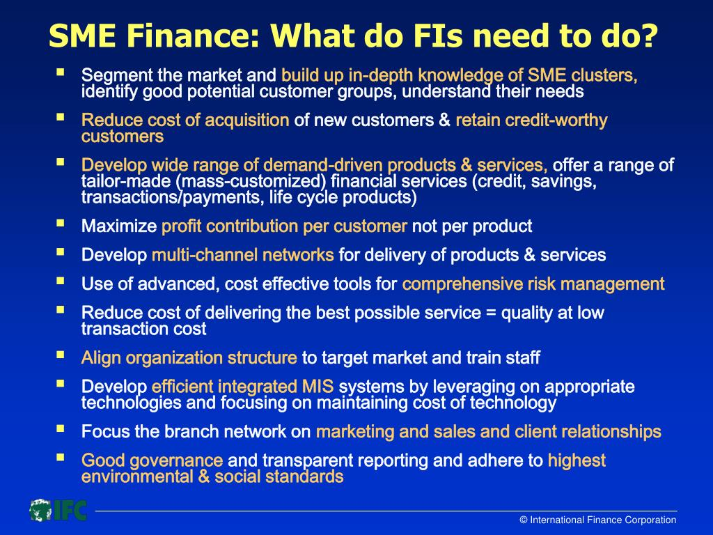 SME Finance: What do FIs need to do?