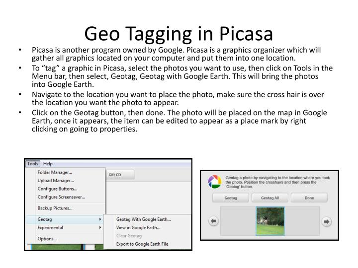 Geo Tagging in Picasa