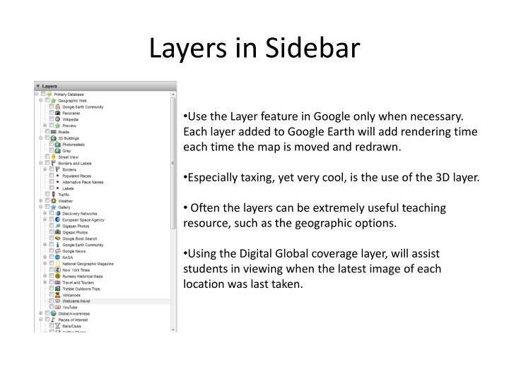 Layers in Sidebar