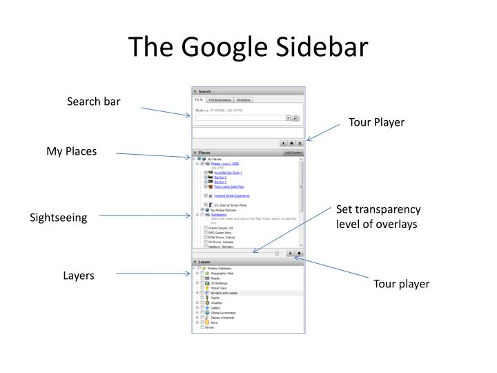 The Google Sidebar