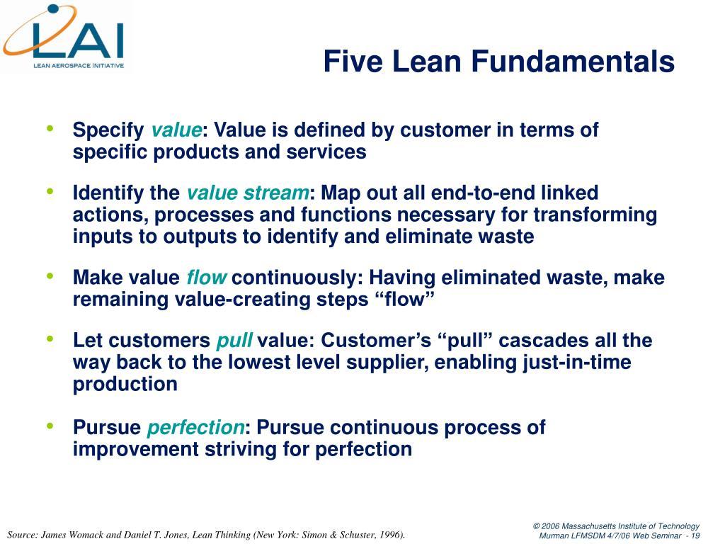 Five Lean Fundamentals