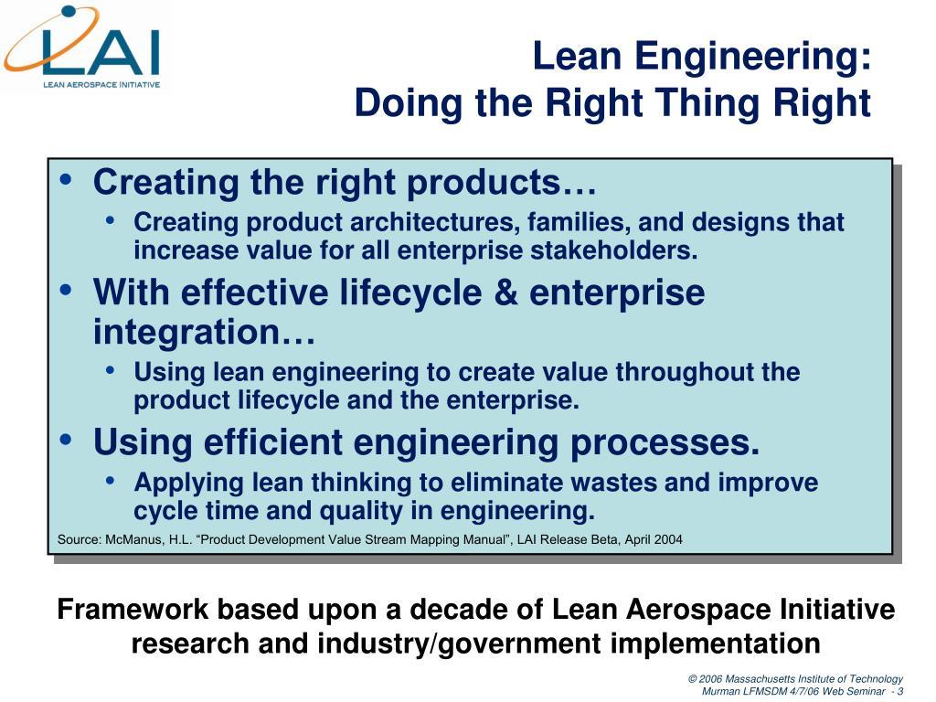 Lean Engineering: