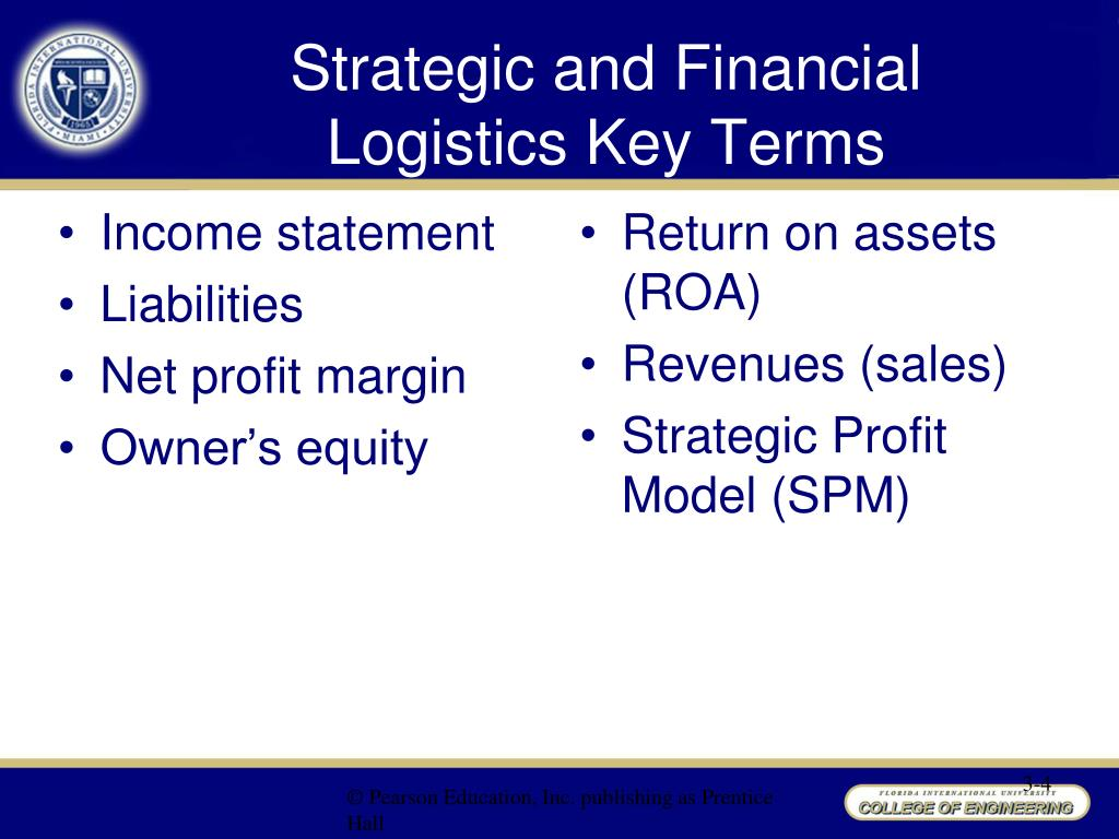 strategic and financial logistics Strategic and financial logistics key terms • assets • asset turnover • balanced  scorecard (bsc) • balance sheet • costshow more content.