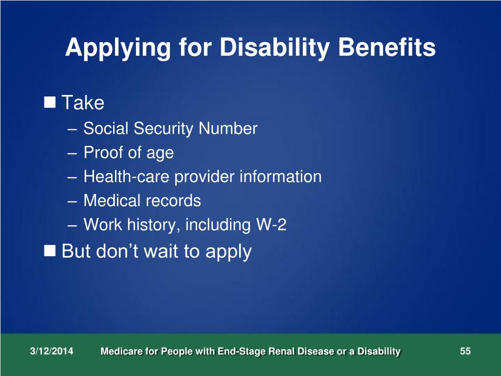 Applying for Disability Benefits
