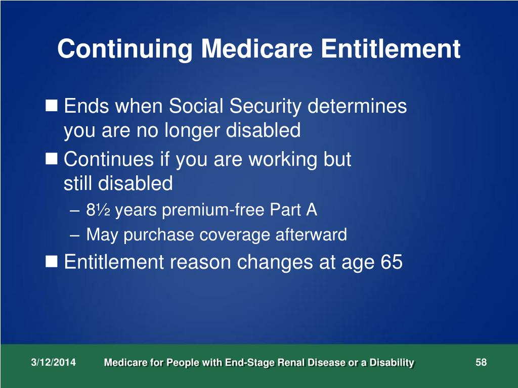 Continuing Medicare Entitlement