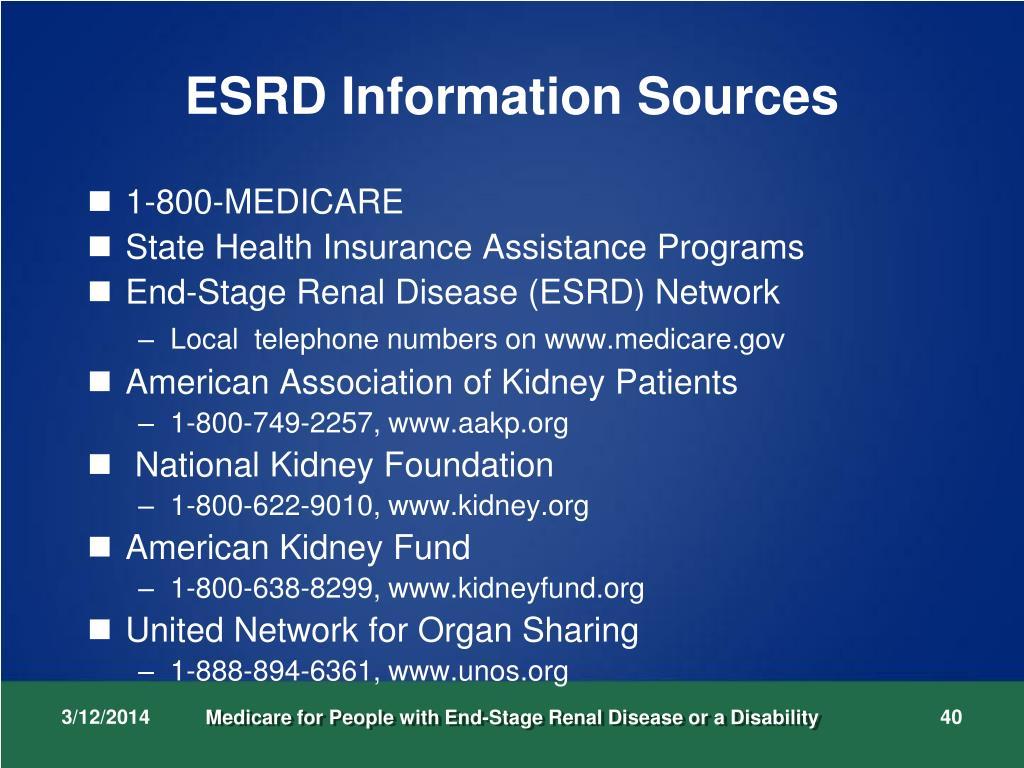 ESRD Information Sources