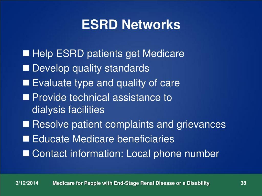 ESRD Networks