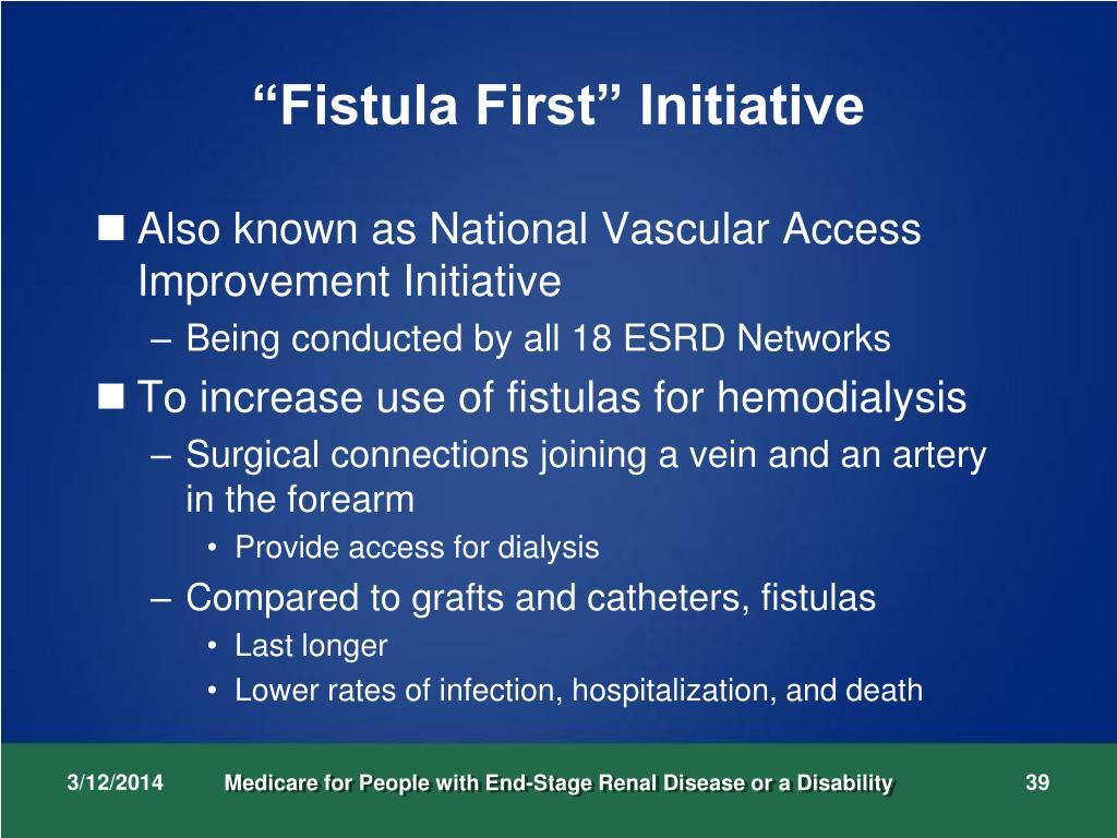 """""""Fistula First"""" Initiative"""