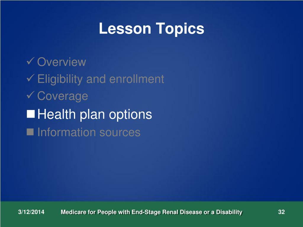 Lesson Topics
