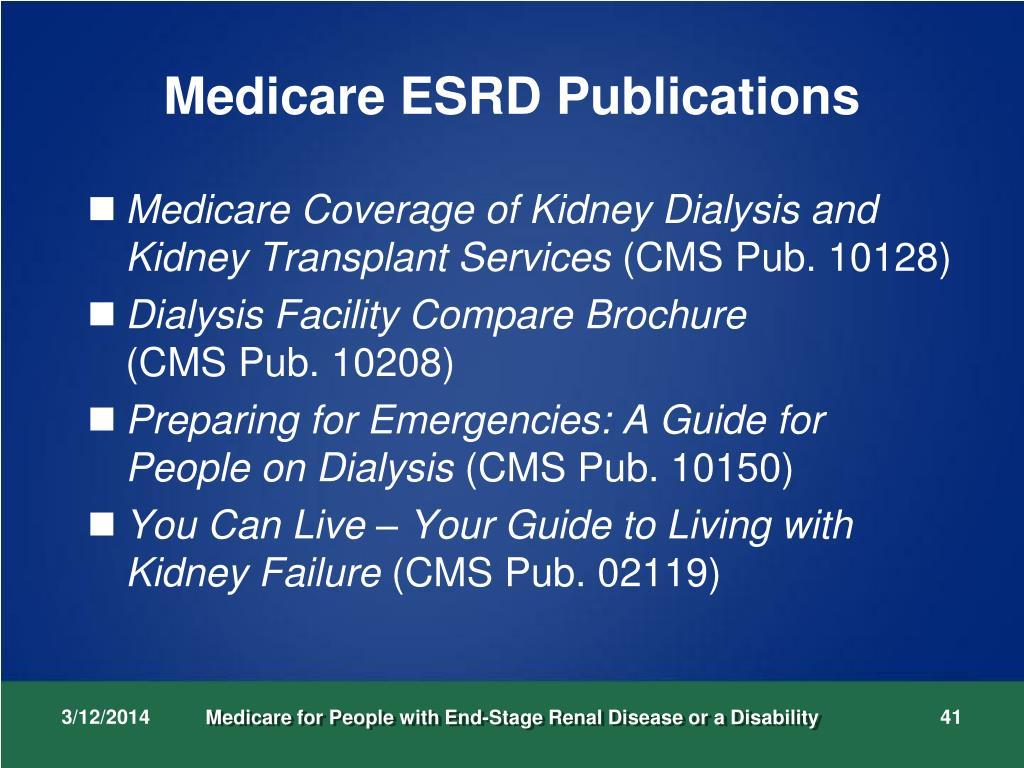 Medicare ESRD Publications