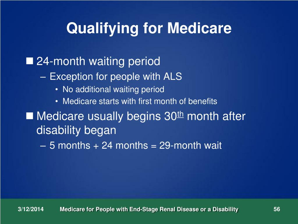 Qualifying for Medicare