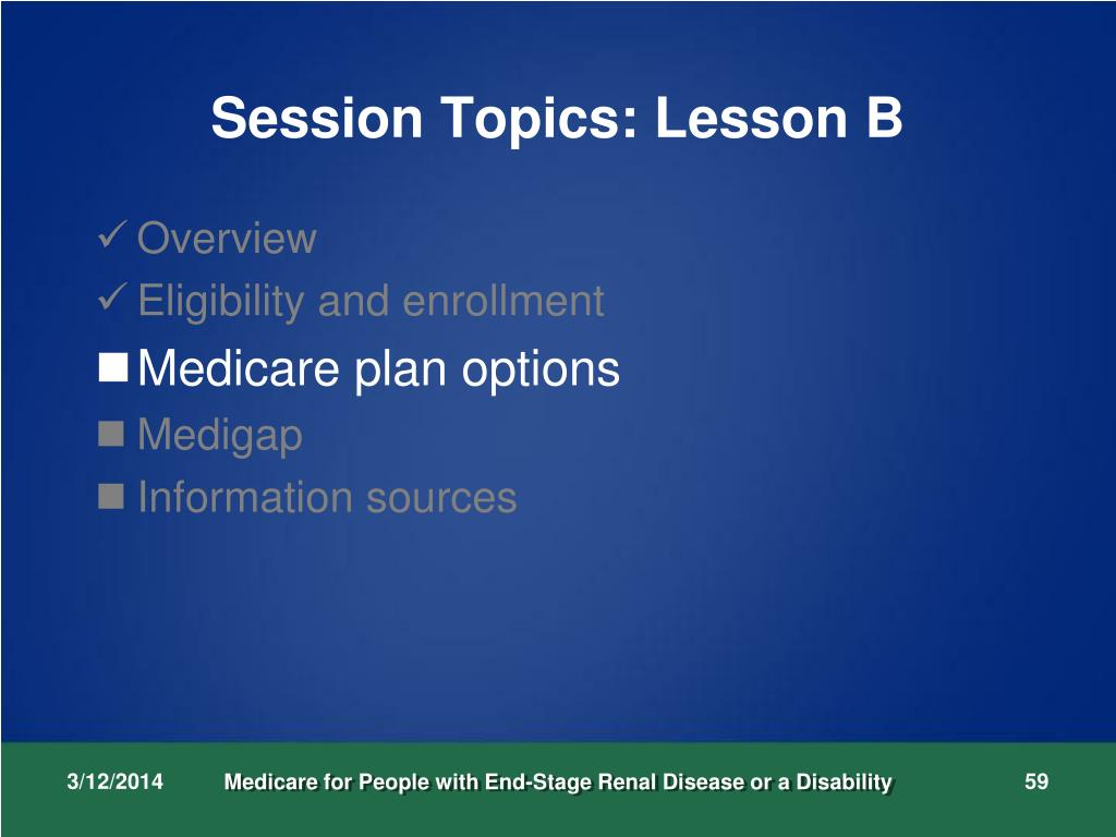 Session Topics: Lesson B