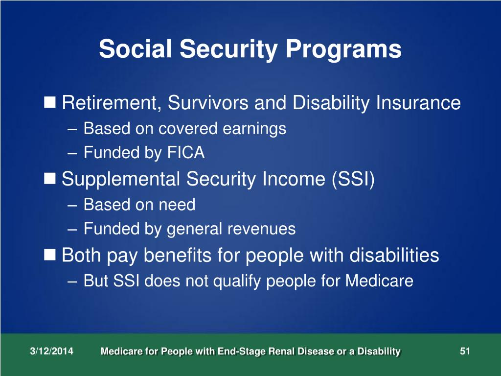 Social Security Programs