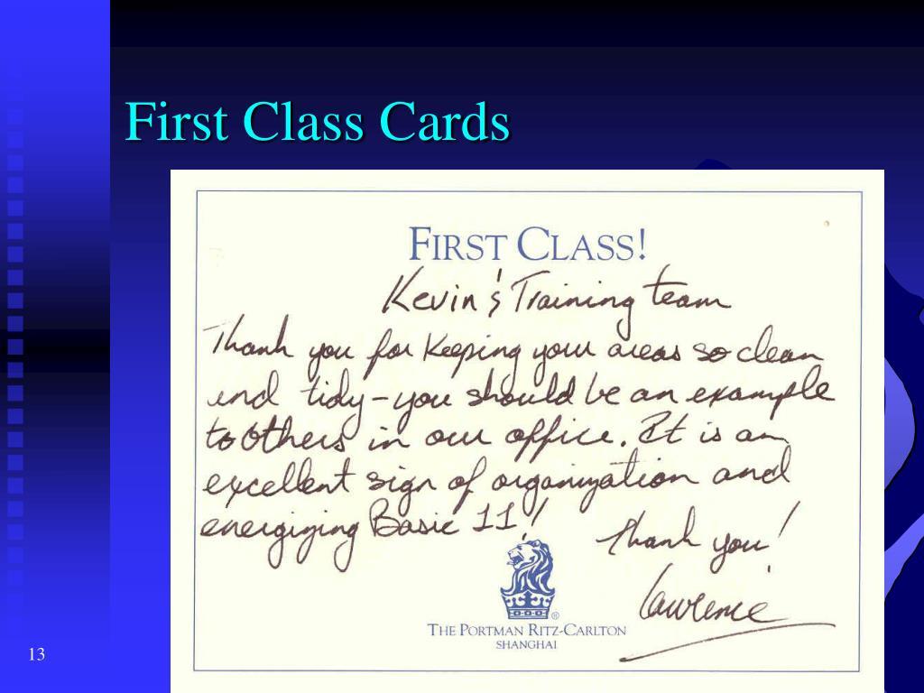 First Class Cards