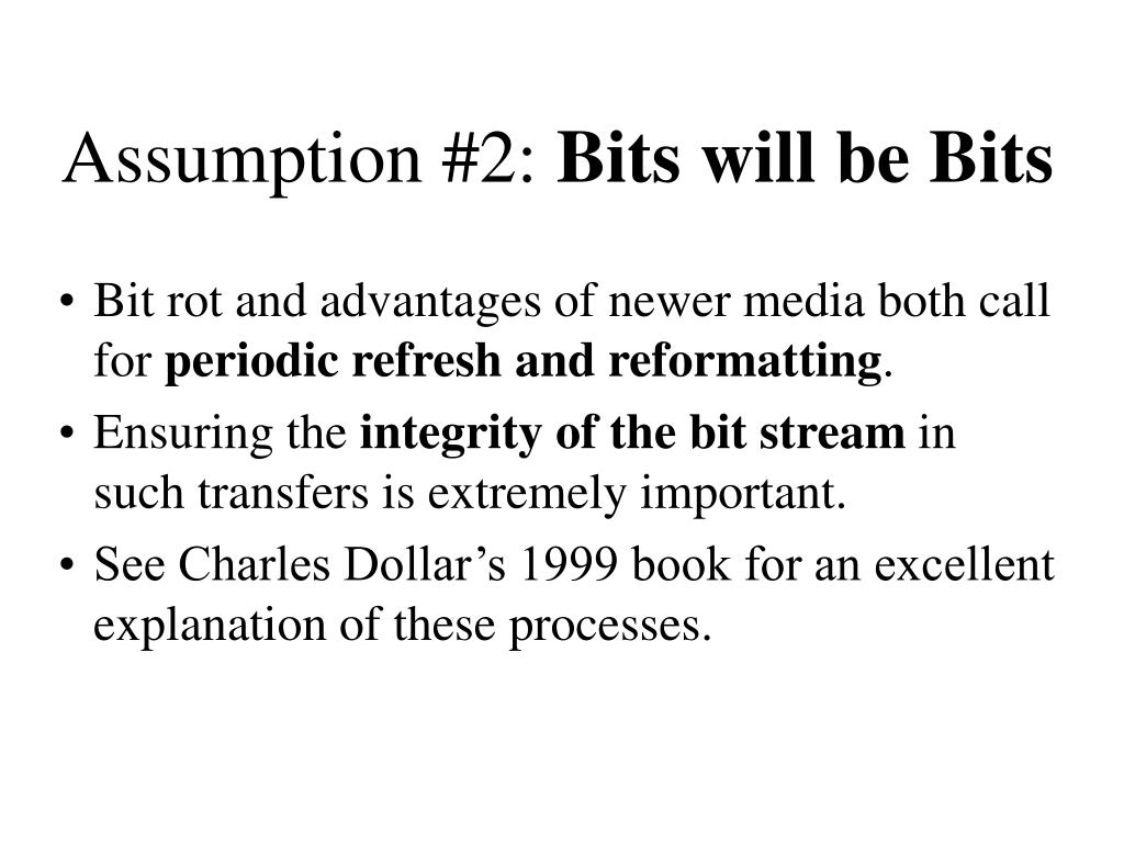 Assumption #2: