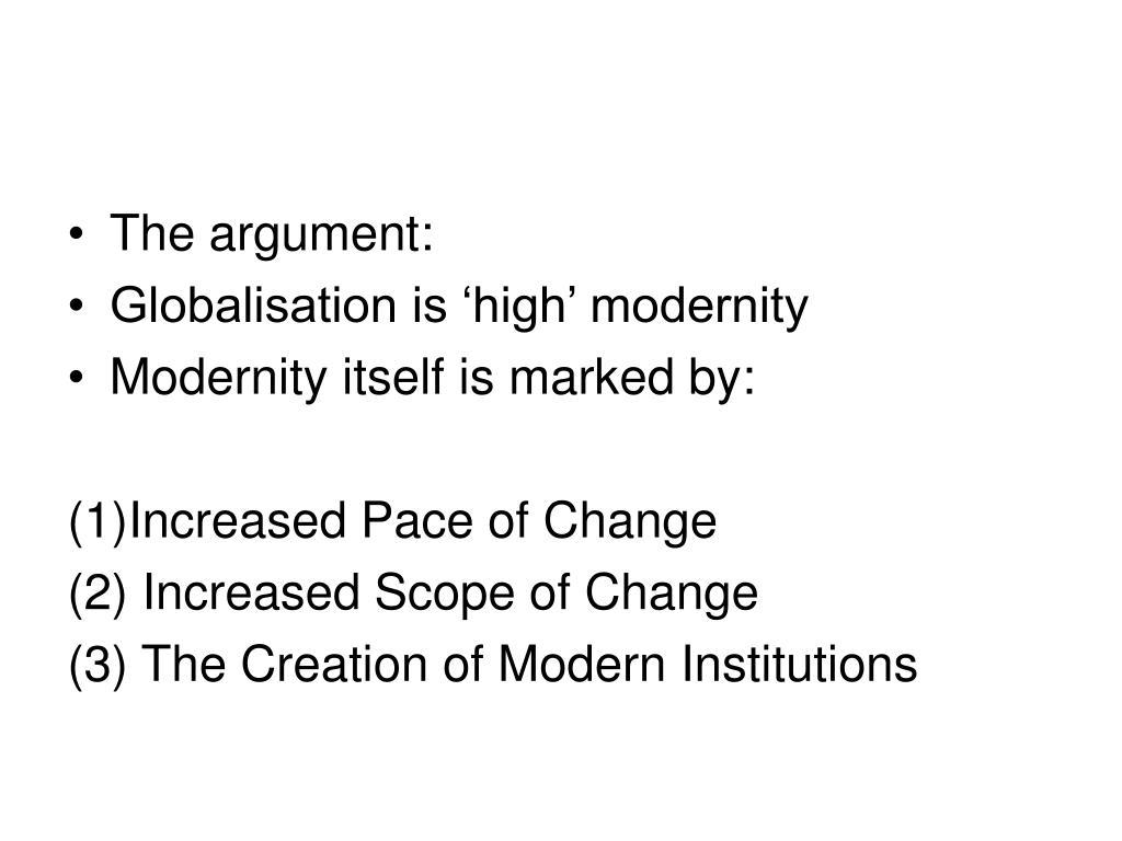 The argument: