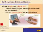 keyboard and pointing devices13