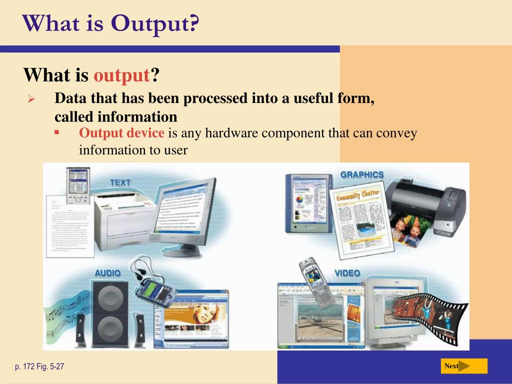 What is Output?