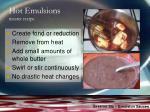 hot emulsions master recipe