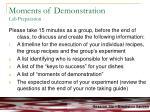 moments of demonstration lab preparation