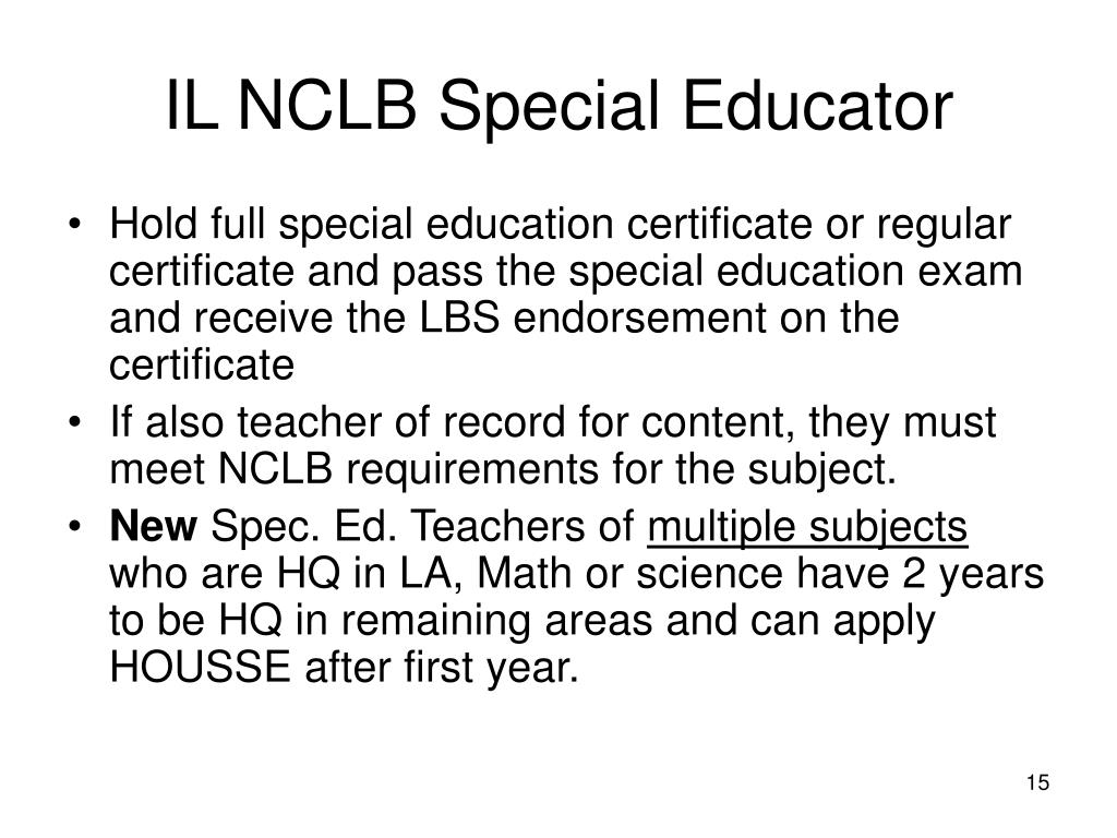 IL NCLB Special Educator