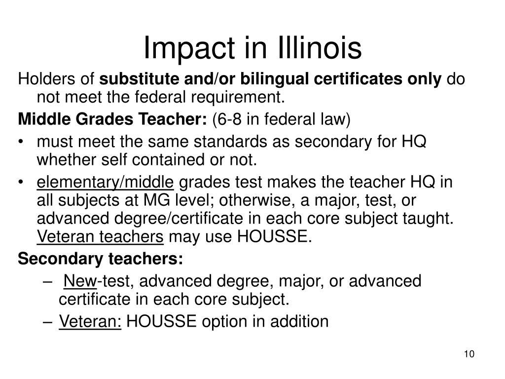 Impact in Illinois